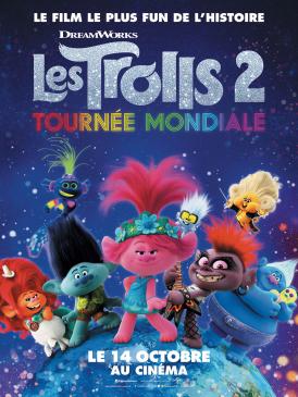 Affiche du film Les Trolls 2 - Tournée mondiale au cinéma Paradiso de St MArtin en Haut