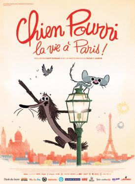 Affiche du film Chien Pourri, la vie à Paris ! au cinéma Paradiso de St MArtin en Haut