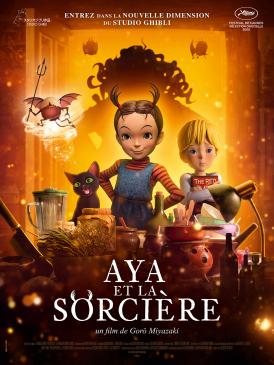 Affiche du film Aya et la sorcière au cinéma Paradiso de St MArtin en Haut