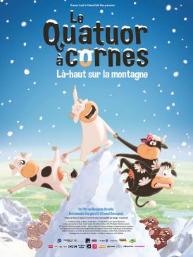 Affiche du film Le Quatuor à cornes Là-haut sur la montagne au cinéma Paradiso de St MArtin en Haut