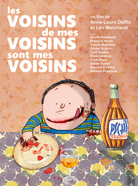 Affiche du film Les Voisins de mes voisins sont mes voisins au cinéma Paradiso de St MArtin en Haut